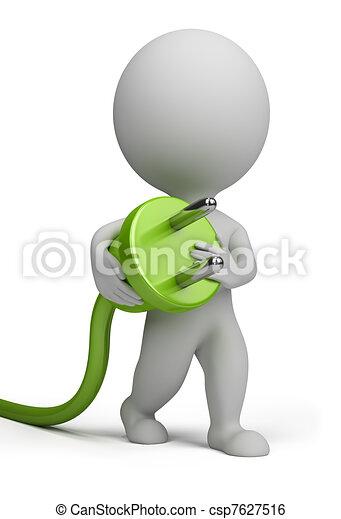 3d small people - plug - csp7627516