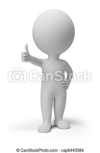 3d small people - positive pose - csp6443084