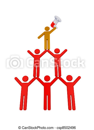 3d small people pyramid. - csp8502496