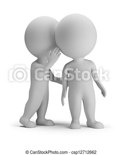 3d small people - secret - csp12712662