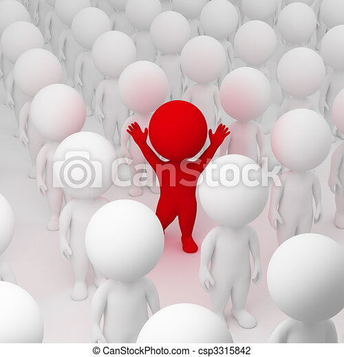 3d small people - segregate - csp3315842