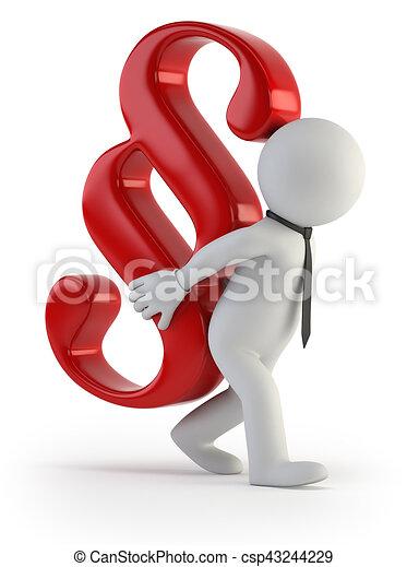 3d small people - tax burden - csp43244229