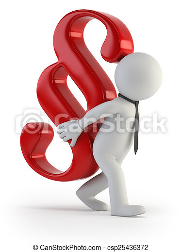 3d small people - tax burden - csp25436372