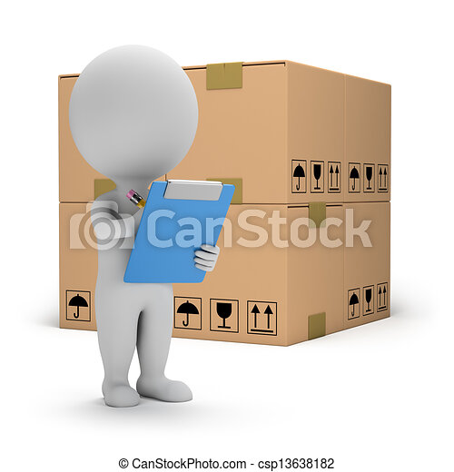 3d small people - warehouse services - csp13638182