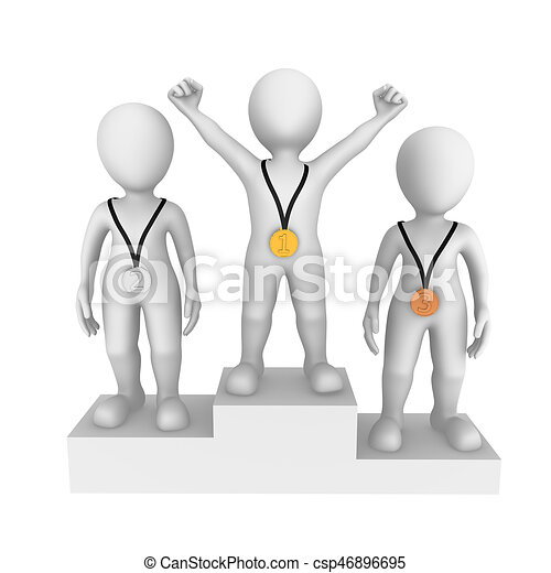 3d small people. Winner. - csp46896695