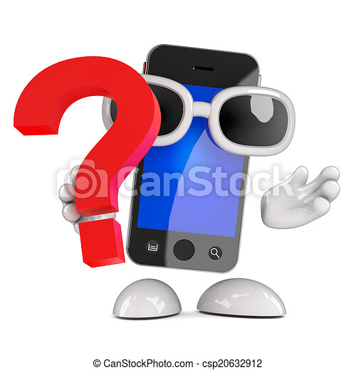 3d Smartphone question mark - csp20632912