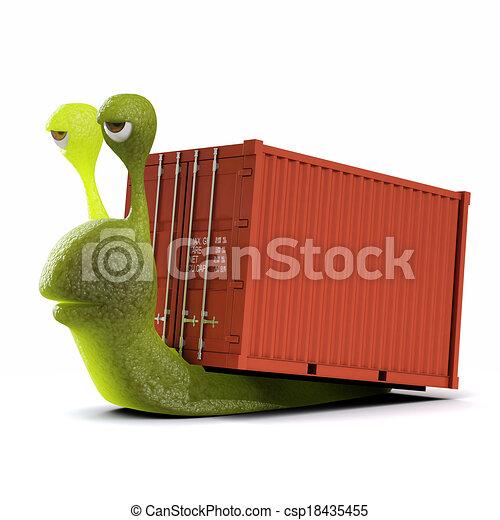 3d Snail haulage contractor - csp18435455