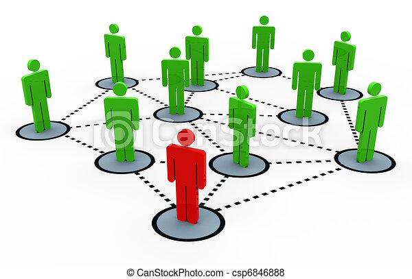 3d social network - csp6846888