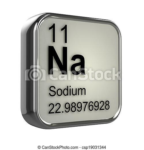 3d Sodium element - csp19031344