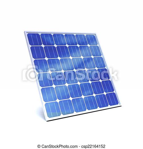 3d Solar panel - csp22164152