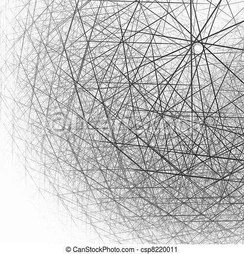 3d spherical structure black and white csp8220011