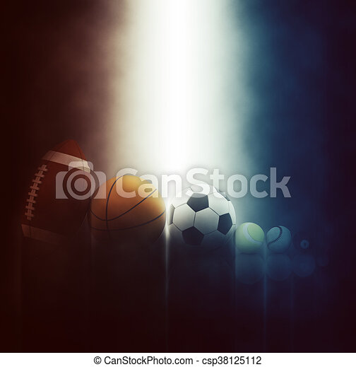 3D sports balls backgrounds - csp38125112
