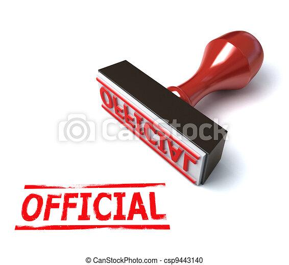 3d stamp official - csp9443140