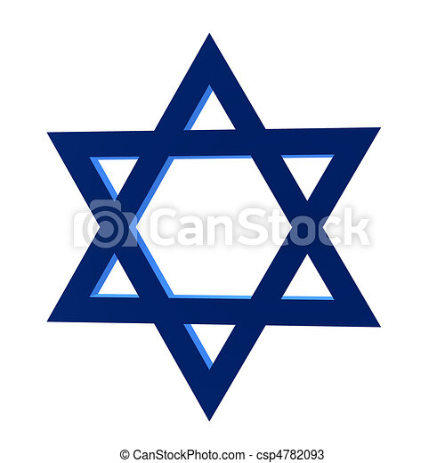 3d star of david 3d star of david on a white background rh canstockphoto com Star of David Template North Star Clip Art