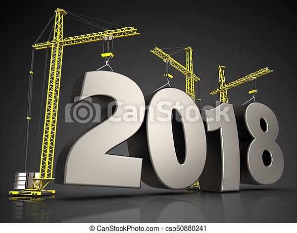 3d steel 2018 sign - csp50880241