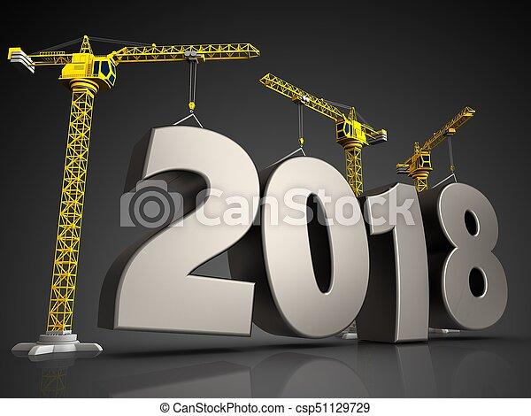 3d steel 2018 sign - csp51129729