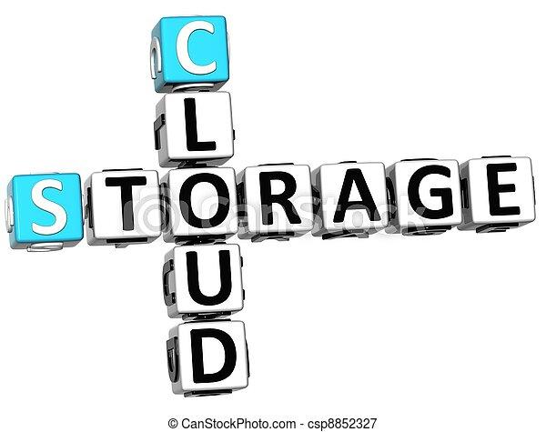 3D Storage Cloud Crossword cube words - csp8852327