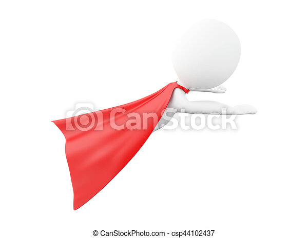 3d Super Hero With Red Cape 3d Renderer Image Super Hero With Red Cape Isolated White Background Canstock