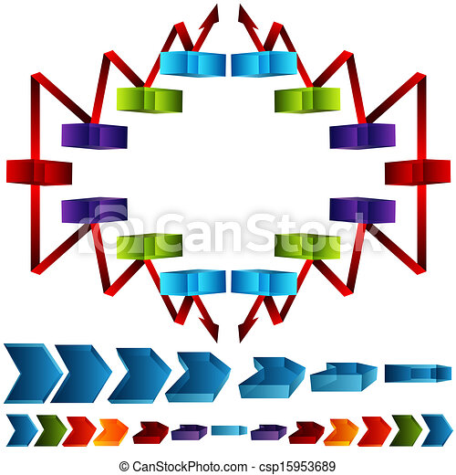 An Image Of A 3d Supply Chain Chart Vector Search Clip Art Rh Canstockphoto Com Clipart Management