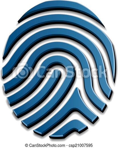 3d, symbole, vecteur, dessin, empreinte doigt - csp21007595