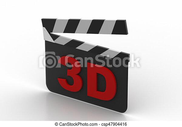 Una tabla de aplausos del cine 3D - csp47904416
