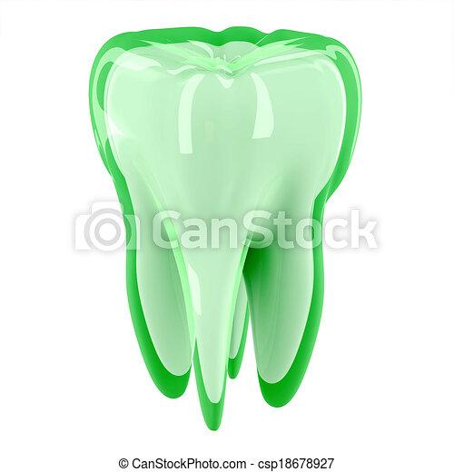 3D Teeth protection concept - csp18678927