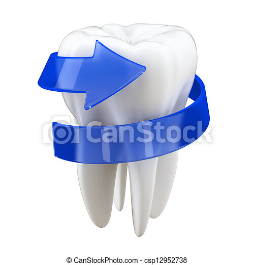 3d Teeth protection concept - csp12952738