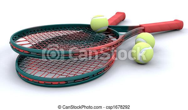 3d Tennis equipment - csp1678292