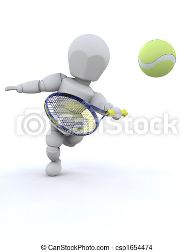 3D Tennis player - csp1654474