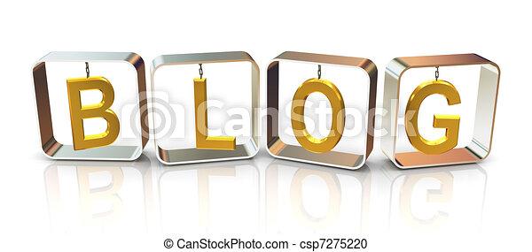 3d text blog - csp7275220