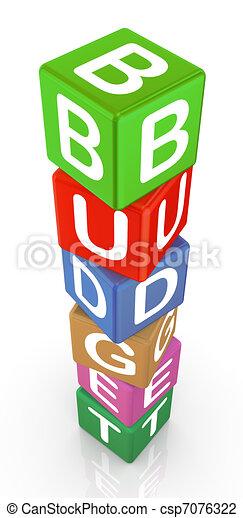 3d text cubes budget - csp7076322
