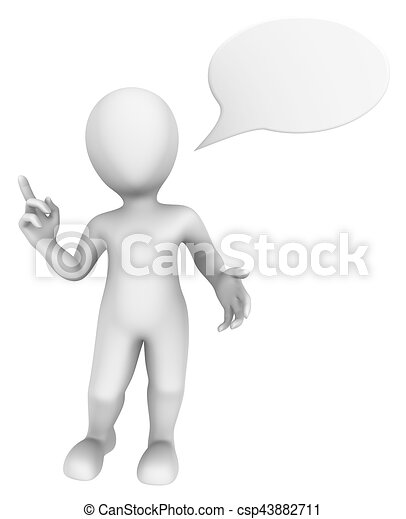 3d thinking man with speech bubble above 3d illustration clipart rh canstockphoto com man thinking clipart png thinking man clipart