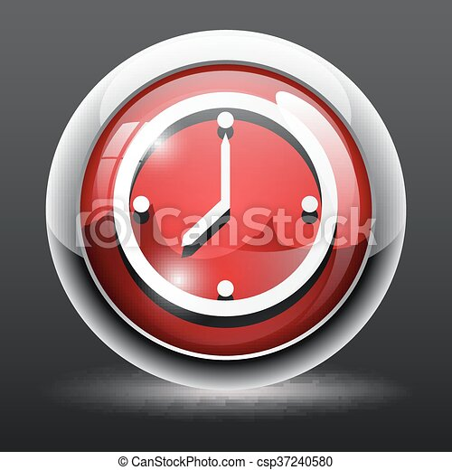 3d time clock icon 3d time clock vector icon
