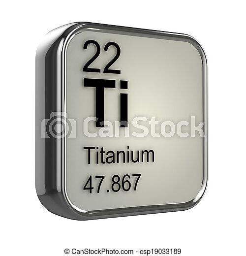 3d Titanium element - csp19033189