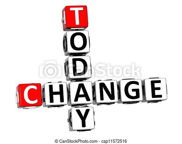 3D Today Change Crossword - csp11572516