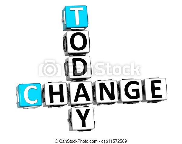3D Today Change Crossword - csp11572569