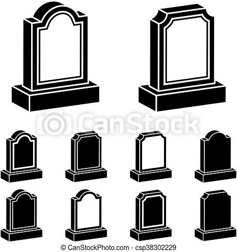 3d tombstone black symbol - csp38302229