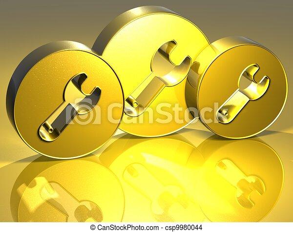 3D Tools Gold Sign - csp9980044