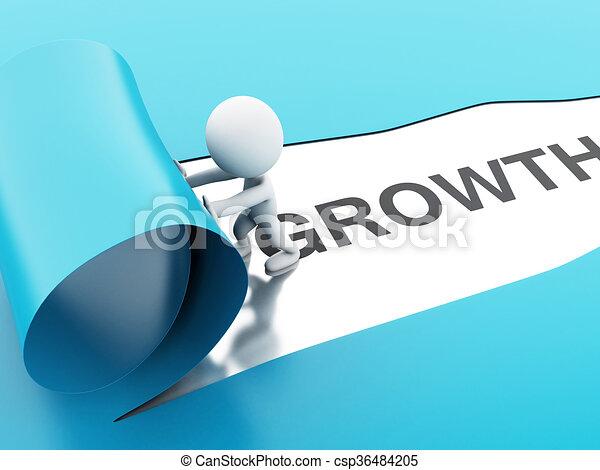 3d torn paper growth - csp36484205