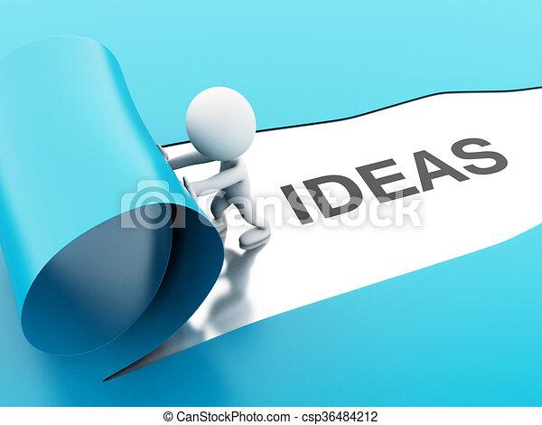 3d torn paper ideas - csp36484212