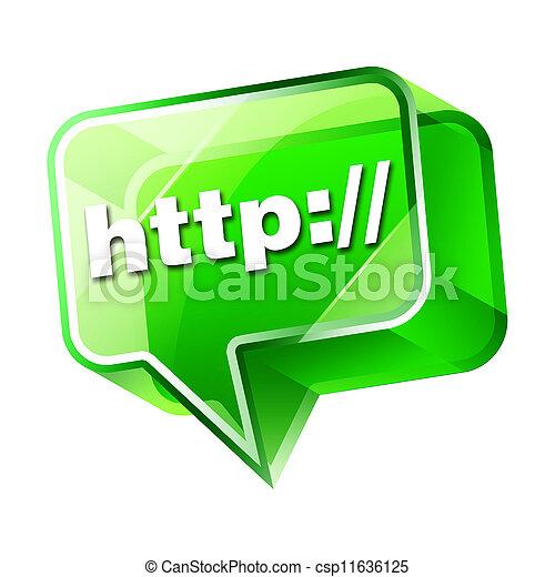 3d, transparente, icono - csp11636125