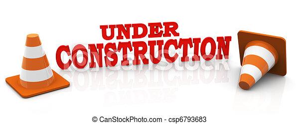 3d under construction - csp6793683