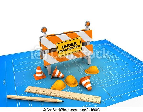 3d under construction stand - csp42416003