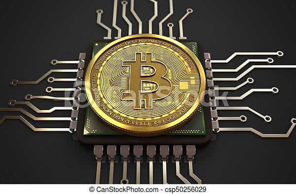 3d, unité centrale traitement, bitcoin - csp50256029