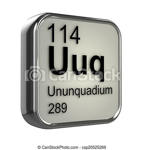 3d ununquadium periodic table element csp20525269 - Periodic Table Symbol Ununquadium
