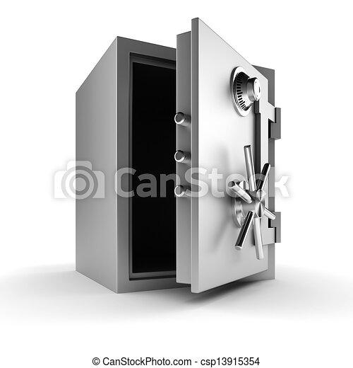3d vault on white background - csp13915354