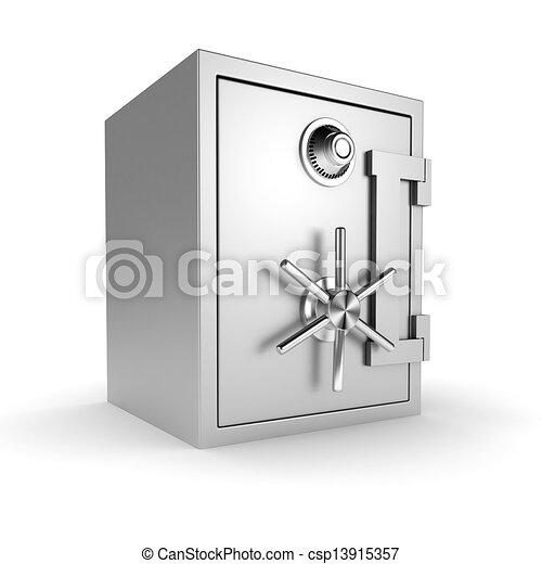 3d vault on white background - csp13915357