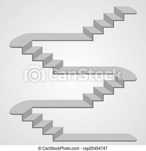 3d vecteur escalier art escalier illustration signe. Black Bedroom Furniture Sets. Home Design Ideas