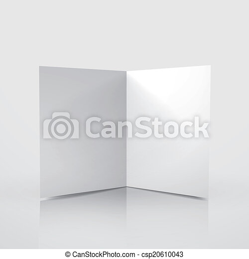 D Vector Blank Card Template On White Background Eps Vector