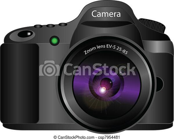 3d vector camera realistic vector 3d illustration of